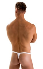 4-Way Adjustable Bikini-Tanga-Micro in Super ThinSKINZ White 4