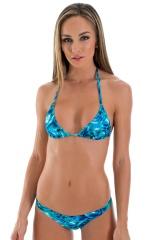 Surfer Girl Swimsuit Bottom in Liquid Bahamas 1