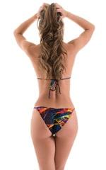 Brazilian Pucker Butt Bikini in Tan Through Rave Up 5