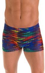 Square Cut Seamless Swim Trunks in Tan Through Wavelength 6