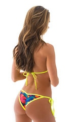 Cheeky Scrunchie Banded Side Tie Bikini Bottom in Tan Through Tahitian 3