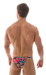 Fitted Pouch Puckered Back Bikini in Tan Through Tahitian 3