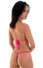 Teardrop G String Micro Bikini in Semi Sheer ThinSkinz Neon Hot Pink 3