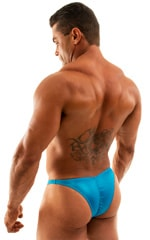 Posing Suit - Fitted Pouch - Puckered Back in Wet Turquoise 3