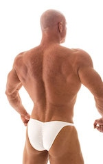 Fitted Pouch - Puckered Back - Posing Suit in Optic White 3