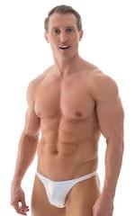 Rio Tanning Bikini Swimsuit in White Silver Holographic 1