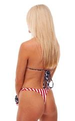 High Cut Thong Bottom in American Stripes 6