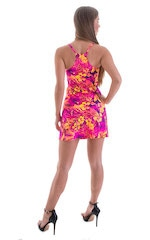 Cover Up Mini Dress in Tahitian Sunset 3