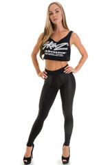 Paneled leggings in Neoprene & Black 1