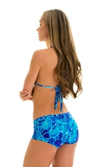 Brazilian Triangle Swim Top in New World Blue 3