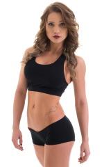 Womens Sport Top in Black Cotton-Lycra 5