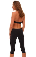 Capri Hip-hugger Leggings in Black  3