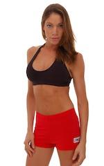 Womens Sport Halter Top in Black Cotton-Lycra 4