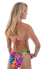 Womens Shaped Triangle Swimsuit Comfort Ties Top in Hawaiian Tropical 3