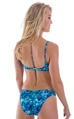 Womens Moderate High Cut Swimsuit Bottom in Liquid Bahamas 3