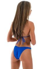 High Cut Brazilian Scrunchie Bottom in Royal Blue Swimsuit Bottom 1