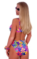 Womens Full Cup Underwire Swimsuit Top in Hawaiian Floral 3