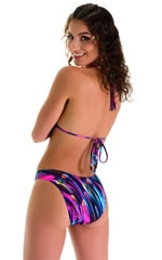Classic Triangle Swimsuit Top in Gravity Waves 2