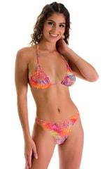 Moderate High Cut Bottom in Tan Through Orange Jungle 3