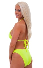 Womens Shaped Triangle Swimtop in Chartreuse 3