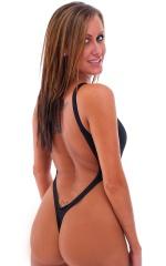 One Piece Thong Bikini in ThinSkinz Black 5