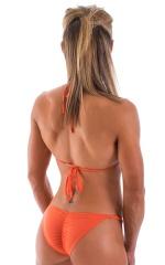 Brazilian Pucker Butt Bikini in Semi Sheer ThinSKINZ Apricot 5