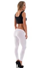 Womens Super Low Rise Leggings in Optic White 3