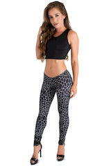Womens Super Low Rise Fitness Leggings in String Theory 1