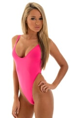 One Piece Thong Bikini in Semi Sheer ThinSkinz Pink 4