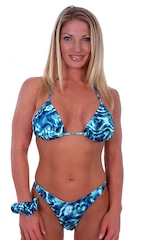 Womens Classic Triangle Swimsuit Top in Liquid Bahamas 4