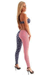 Womens Low Rise Leggings - Fashion Tights in Stars and Stripes nylon/lycra 3