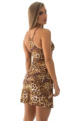 Cover Up Mini Dress in Jungle Kat 3