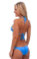 Surfer Girl Runched Swimsuit Bottom in Semi Sheer ThinSKINZ Sapphire 3