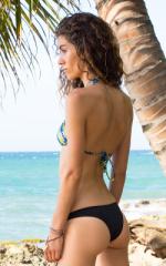 Surfer Girl Runched Swimsuit Bottom in Black 5