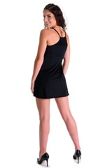 Cover Up Mini Dress in Super ThinSKINZ Black 4