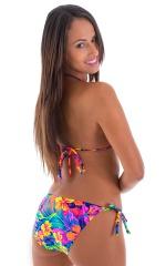 Womens Low Rise Side Tie Moderate Bikini Bottom in Hawaiian Tropical 3
