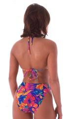 womens beach volleyball tie halter top in Hawaiian Tropical 3