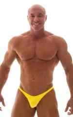 Bodybuilder Posing Suit - Narrow Back in Wet Look Yellow 1
